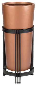 European Planters - Tall Cylinder in Stand Copper